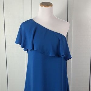 NEW Maggy London One Shoulder Blue Cocktail Size 2